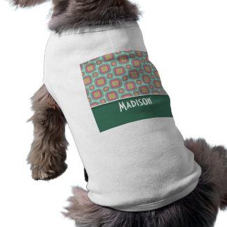 Gulligt Retro mönster för rosor & för Mint Hund T-shirts