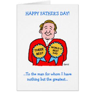 Gulligt roligt fars daghälsningkort hälsningskort