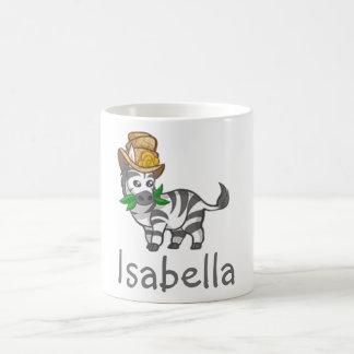 Gulligt roligt namn för ungar för djungel för kaffemugg