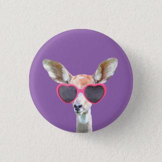 Gulligt roligt skogsmarkdjur för antilop mini knapp rund 3.2 cm
