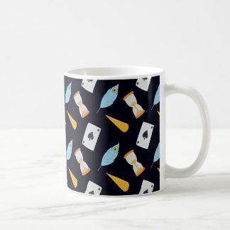 Gulligt sagamönster kaffemugg