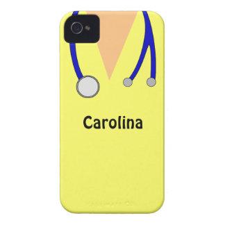 Gulligt skurar sjuksköterskapersonligblackberry iPhone 4 Case-Mate fodral