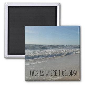 Gulligt strandhavtryck magnet