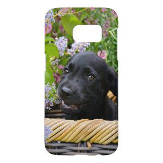 Gulligt svart foto //för valp för hund för galaxy s5 skal