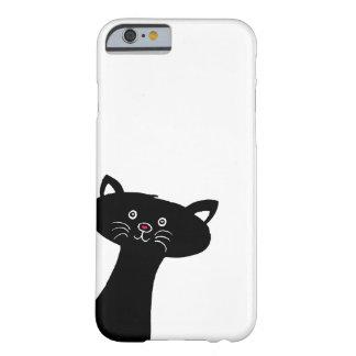 Gulligt svart katttelefonfodral barely there iPhone 6 fodral