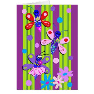Gulligt tecknadfödelsedagkort hälsningskort