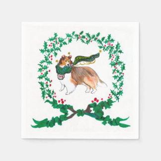 Gullivers servetter för Sheltie jul