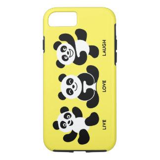 Gulna 3 plus för PandasiPhone 7, tufft fodral