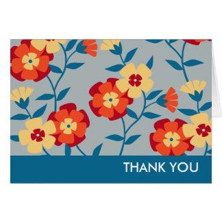 Gult, blått & den orange moderna blommigten OBS kort