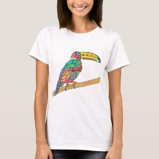 Gult för mauve för kricka för färgrik Toucan fågel T-shirt