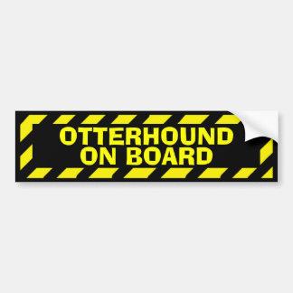 Gult för otterhounden varnar ombord klistermärken