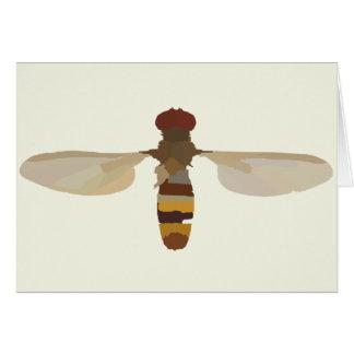 gult för vetenskap för natur för waspbiinsekt djur hälsningskort