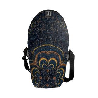 Gult Fractalpussel för blått Kurir Väska