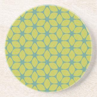 Gult/geometrisk blomma för kricka underlägg sandsten