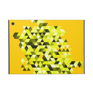 Gult geometriskt fodral för kortkort för triangelm