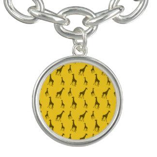 Gult giraffmönster berlockarmband