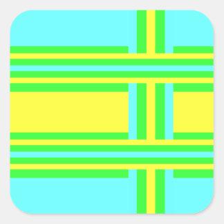Gult grönt, blåttrandar av Shirley Taylor Fyrkantigt Klistermärke