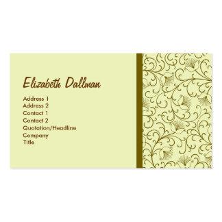 Gult guld- för elegant set av standard visitkort