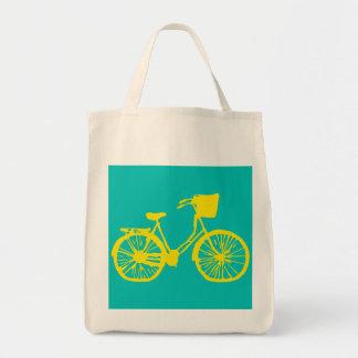 Gult/kricka för vintagecykeltoto tygkasse