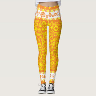 gult lägga benen på ryggen leggings