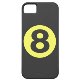Gult numrerar fodral åtta iPhone 5 Case-Mate skal
