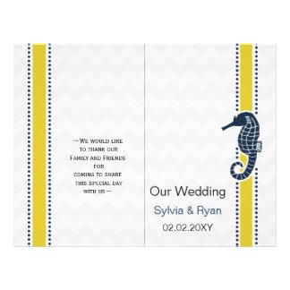 Gult och brevpapper för bröllop för reklamblad