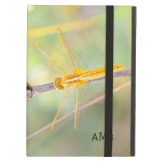 Gult och guld färgad slända iPad air skal