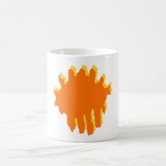 gult och orange design kaffemugg