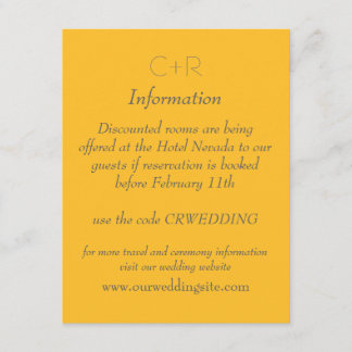 Yellow and Orange Stars Information card 4.25x5.5