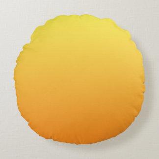 Gult och orange rund kudde