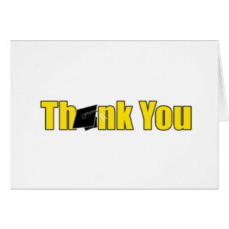 Gult och svart för tackstudentenkort hälsningskort