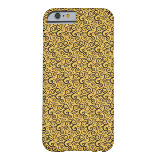 Gult- och svartspiraldesign - Iphone 6 fodral Barely There iPhone 6 Fodral
