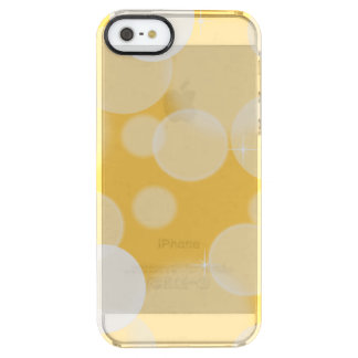 Gult och vit Bokeh Clear iPhone SE/5/5s Skal