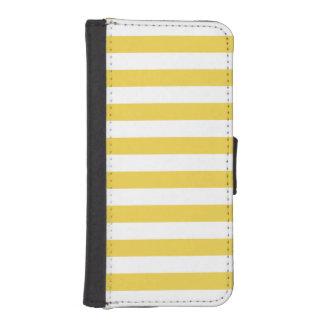 Gult- och vitrandmönster iPhone SE/5/5s plånboksfodral