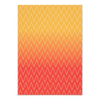 Gult orange urblektt lutningsparremönster 12,7 x 17,8 cm inbjudningskort