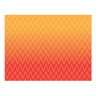 Gult orange urblektt lutningsparremönster vykort