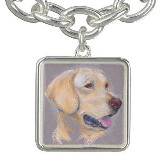 Gult porträtt för Labrador Retriever Berlockarmband