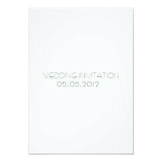 Gult Retro abstrakt blom- Collage-Bröllop Invit 12,7 X 17,8 Cm Inbjudningskort
