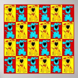 Gult röda 2 för blått för hundar för