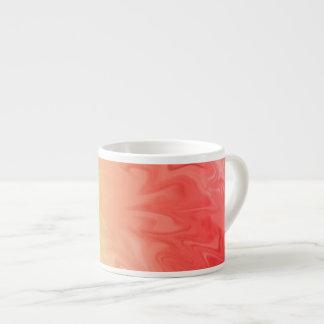 Gult rött flammar struktur espressomugg