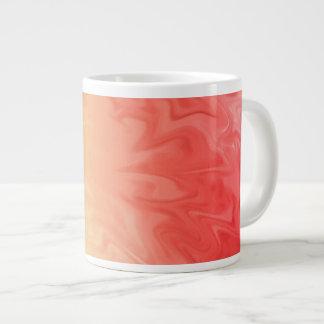Gult rött flammar struktur jumbo mugg