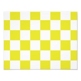 gult rutigt fototryck