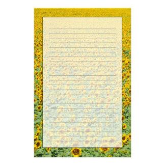 Gult solrosfält brevpapper