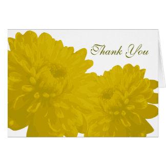 Gult) tackkort för blomma ( OBS kort