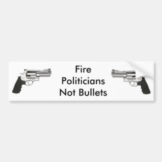 gunleft vapen, avfyrar PoliticiansNot kulor Bildekal