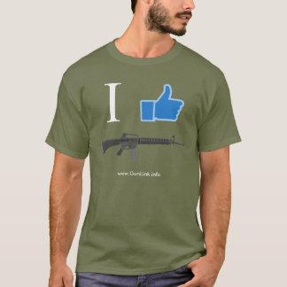 GunLink gillar jag AR15 gevär, tum upp Tee