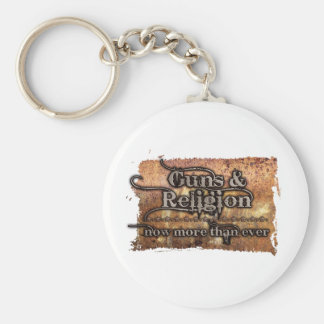 guns&religion rund nyckelring