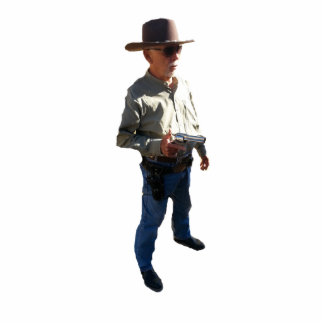 Gunslingers av väster - inget namn photo sculptures