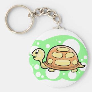 Guppa sköldpaddaillustrationen rund nyckelring