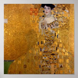 Gustav Klimt //Adele Bloch-Bauers porträtt Poster